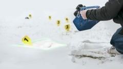 Das handgeführte 3D-Messsystem ermöglicht auch die Spurensicherung im Schnee. (Bild: Fraunhofer IOF)