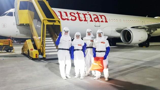 Das Dekontaminierungsteam von ISS Österreich war bereits in der Vergangenheit am Wiener Flughafen im Einsatz. (Bild: APA/ISS ÖSTERREICH)