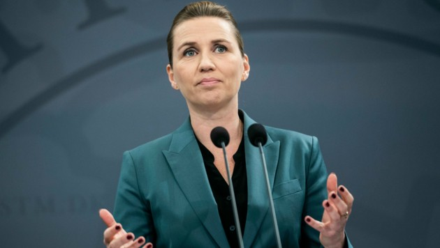 Die dänische Premierministerin Mette Frederiksen (Bild: AFP)