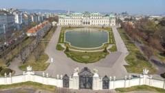Belvedere mit Garten: wunderschön, aber geschlossen (Bild: Vienna Press / Andreas TISCHLER)