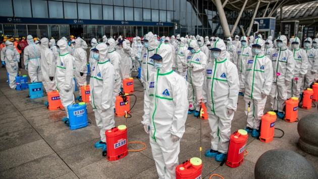 China im Kampf gegen das Coronavirus (Bild: AFP)