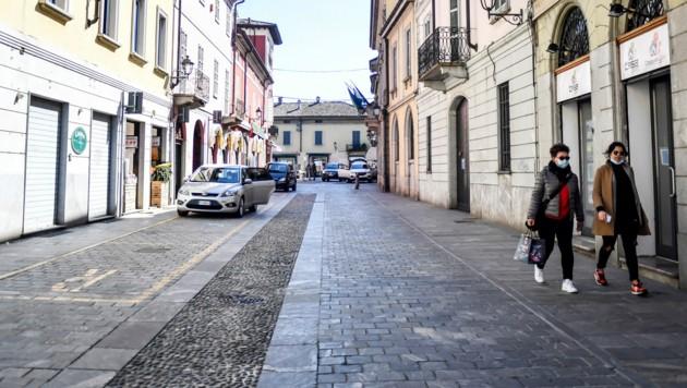 Die Straßen in der Stadt Codogno in der Lombardei sind derzeit fast menschenleer. (Bild: AP)