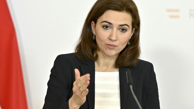 Justizministerin Alma Zadić (Grüne) (Bild: APA/Herbert Neubauer)