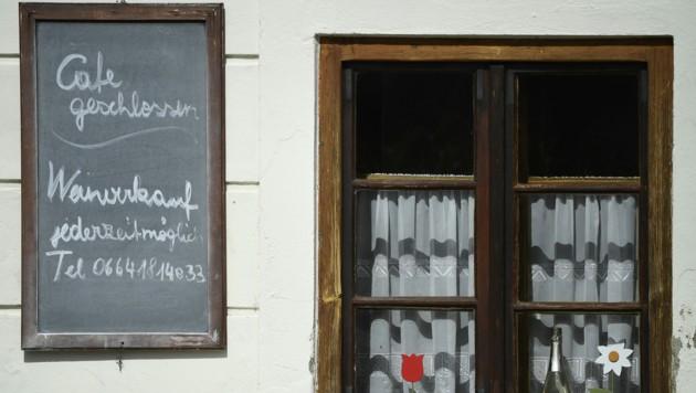 Ein geschlossenes Lokal im burgenländischen Rust (Bild: APA/ROBERT JAEGER)