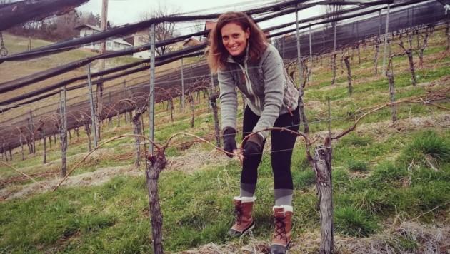 Christina Dow hat schon Erfahrungen im Weingarten und freut sich auf ihren Einsatz. (Bild: Privat)