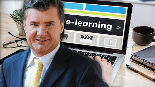Bildungsexperte Dr. Andreas Salcher (Bild: EcowinVerlag, stock.adobe.com, krone.at-Grafik)