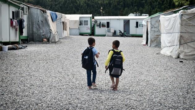 Camp Malakasa (Bild: AFP/Louisa Gouliamaki)