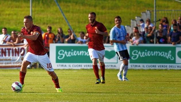 Italien-Legende Francesco Totti (l.) und die Roma ließen einst Bad Waltersdorf kopfstehen. Wann solche Klubs wieder zu uns kommen, steht in den Sternen. (Bild: Insidefoto/Carlo Baroncini)