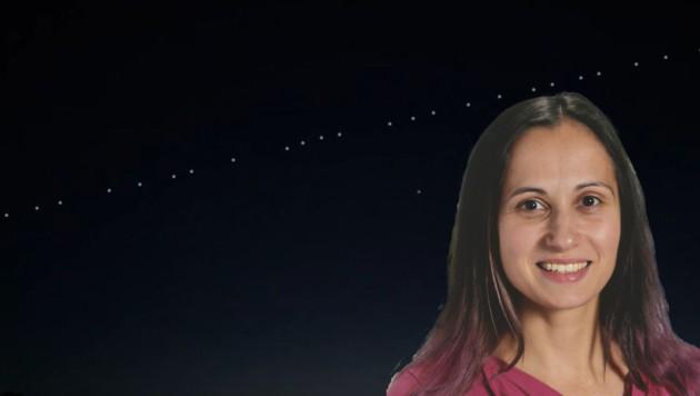 Julia Weratschnig, Kuratorin für Astronomie im Haus der Natur (Bild: Julia Weratschnig/Youtube)