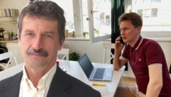 "Josef Trappel sprach mit ""Krone""-Redakteur Christoph Laible über Journalismus in der Corona-Krise (Bild: Josef Trappel, Michaela Steger)"