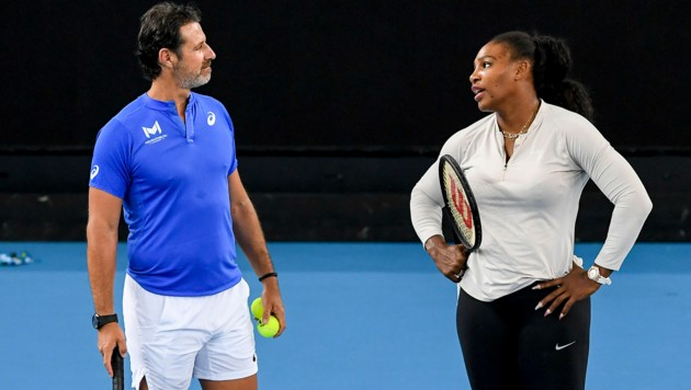 Patrick Mouratoglou und Schützling Serena Williams (Bild: AFP)