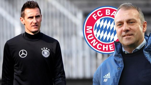 Miroslav Klose (li.) und Hansi Flick (Bild: afp, krone.at-grafik)