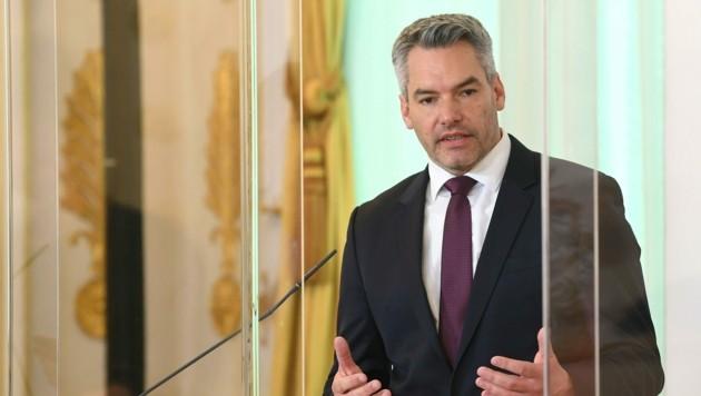Innenminister Karl Nehammer (ÖVP) (Bild: APA/HELMUT FOHRINGER)