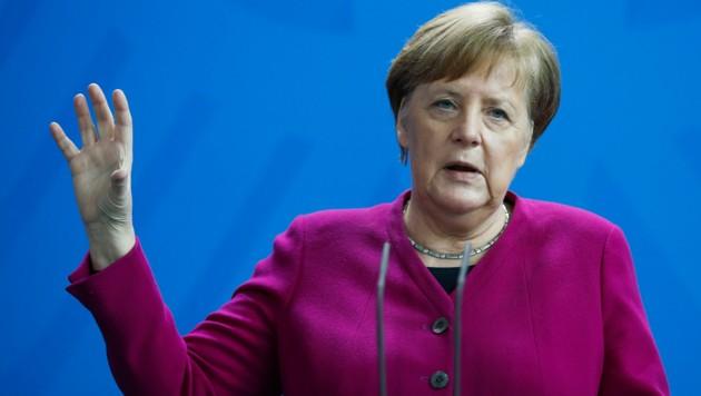 Die deutsche Kanzlerin Angela Merkel (CDU) bei ihrer Pressekonferenz am Gründonnerstag. (Bild: The Associated Press)