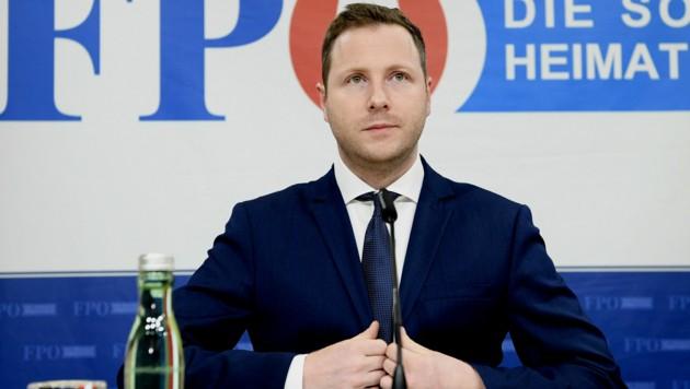 FPÖ-Generalsekretär Michael Schnedlitz (Bild: APA/Hans Klaus Techt)