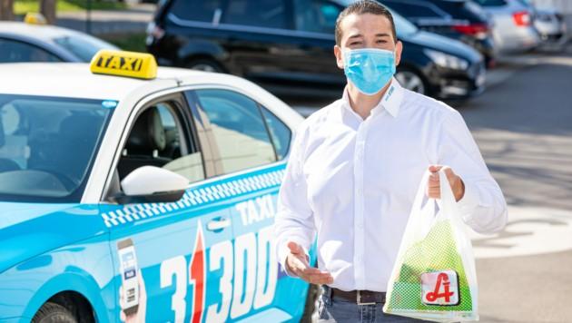 Taxi 31300 bietet nun ein Einkaufsservice beim Nahversorger an. (Bild: Taxi 31300/Ludwig Schedl)