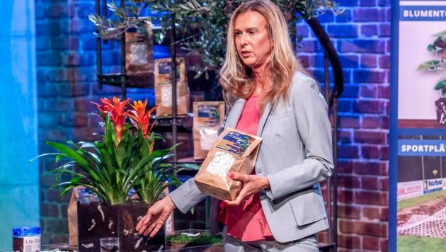 """Dorothea Sulzbacher stellte Lite-Soil in der Puls4-Show """"2 Minuten 2 Millionen"""" vor. (Bild: Puls4/Gerry Frank Photography)"""