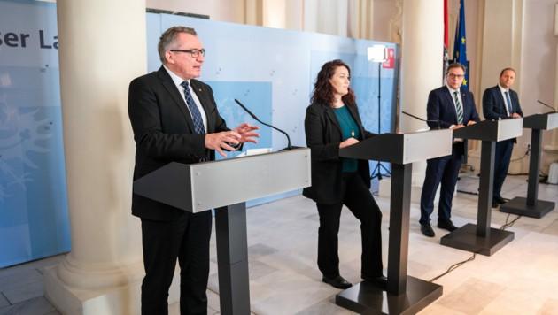 """LR Johannes Tratter: """"Die Tiroler Gemeinden leisten als direkte Ansprechpartner und wichtige Schnittstelle zur Bevölkerung tagtäglich Beachtliches, um die Verunsicherung der Tirolerinnen und Tiroler um ein Vielfaches zu verringern."""" (Bild: Land Tirol)"""