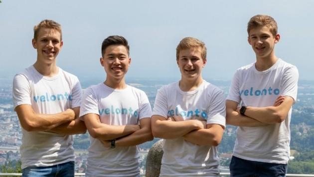 Vier der fünf Velonto-Gründer: Jakob Mayrhofer, Josef Chen, Erik Rohringer und Paul Nober. (Bild: Velonto)