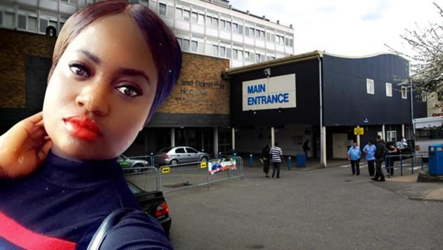 Mary Agyeiwaa Agyapong arbeitete im Luton and Dunstable University Hospital als Krankenschwester. (Bild: Wikipedia/Andy Parrett, gofundme.com, krone.at-Grafik)