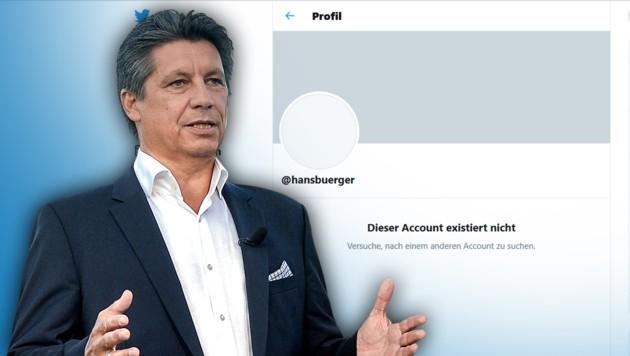 ORF-Moderator Hans Bürger (Bild: PA/HERBERT PFARRHOFER, twitter.com, krone.at-Grafik)