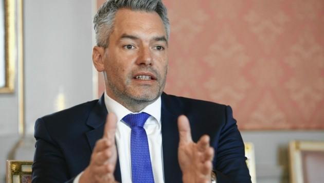 Innenminister Karl Nehammer (ÖVP) (Bild: Reinhard Holl)