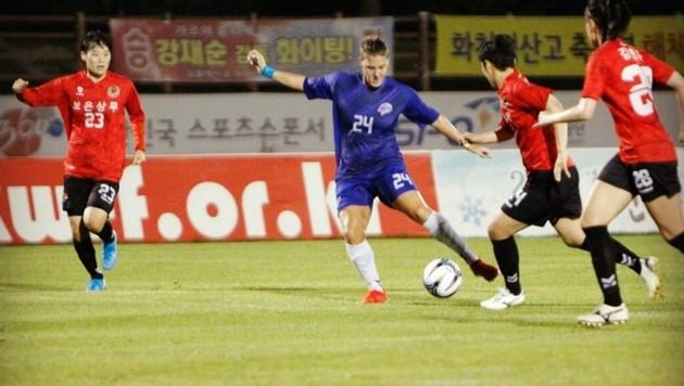 2019 stand Annelie Leitner in Südkorea bei Hwacheon unter Vertrag. (Bild: Leitner)