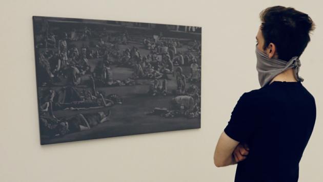 """""""Shades of Grey"""" in der Grazer Galerie Artepari (Bild: Christian Jauschowetz)"""