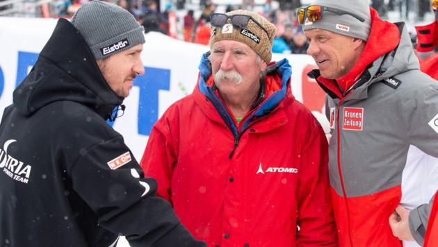 Marcel Hirscher, Ferdinand Hirscher und Mike Pircher (von li. nach re.) (Bild: GEPA)