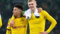 """Jadon Sancho und Erling Haaland – zwei """"besondere"""" Menschen und Fußballer ... (Bild: AP)"""