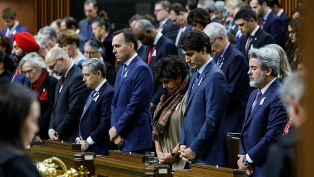 Justin Trudeau bei einer Trauerfeier im Parlament 2019. (Bild: Adam Scotti (PMO / CPM))