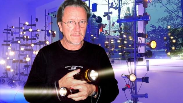 """Werner Schimpl mit """"U-Boot reloaded"""" (Bild: W. Schimpl)"""