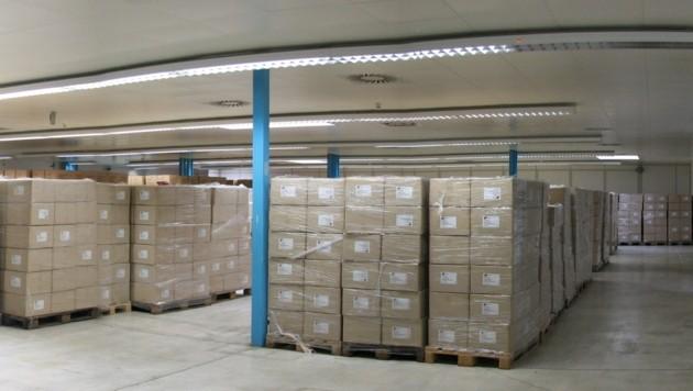 Die Anfangsbestände an Schutzausrüstung im geheimen Pandemielager gehen zu Ende. (Bild: Land Kärnten)