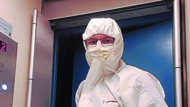 Erwin Auberger ist Kammerjäger und derzeit auch Spezialist für die Desinfektion von Wohnungen und ganzen Häusern. (Bild: ZVG)