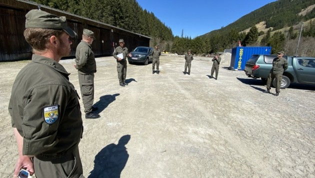 Erkundung der Ausbildungsstätten am Truppenübungsplatz. (Bild: Obstlt Frank Nalter)