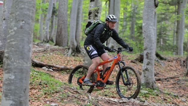 Intersport-Chef Bernhard Pilz ist selbst begeisterter Biker. (Bild: Wallner Hannes/Kronenzeitung)