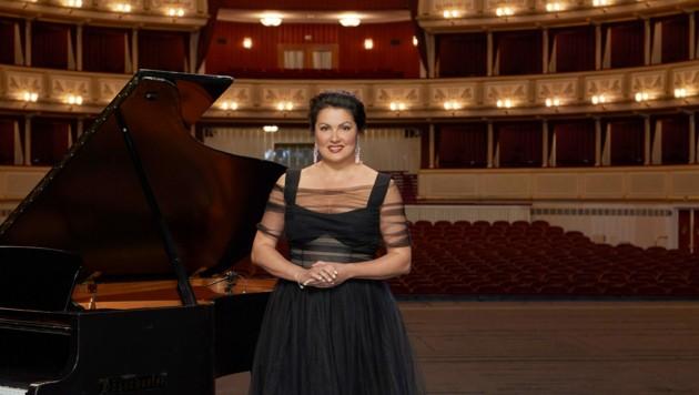 Anna Netrebko in ihrem zweiten Wohnzimmer, der Oper (Bild: ORF)