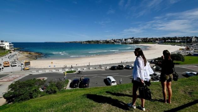 Die Gäste hielten sich nicht an die Social-Distancing-Regeln und deshalb wurden die Strände bei Sydney kurz nach ihrer Öffnung wieder geschlossen (Bild: AFP)