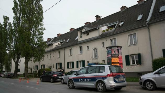 Der Tatort in der Kapellenstraße (Bild: Elmar Gubisch)
