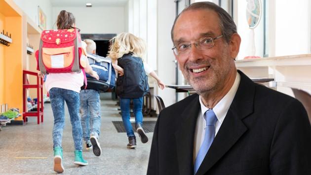 Bildungsminister Heinz Faßmann (Bild: stock.adobe.com, APA/Helmut Fohringer, krone.at-Grafik)
