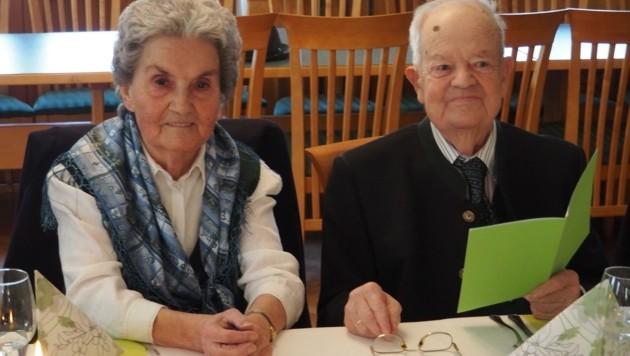 Margarethe und Karl Müllner feiern heute alleine, das große Fest soll nachgeholt werden. (Bild: Privat)