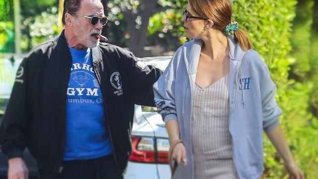 Arnold Schwarzenegger und seine Tochter Katherine (Bild: pps.at, krone.at-Grafik)