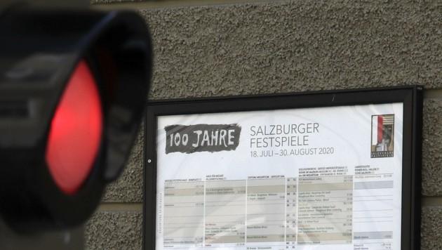 Endgültig rotes Licht für das Jubiläumsprogramm der Salzburger Festspiele. (Bild: Tröster Andreas)