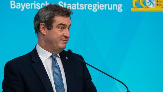 Bayerns Ministerpräsident Markus Söder hat am Dienstag während einer Kabinettssitzung die anderen Bundesländer kritisiert und die Ausgangsbeschränkungen in Bayern bis zum 10. Mai verlängert. (Bild: AFP)