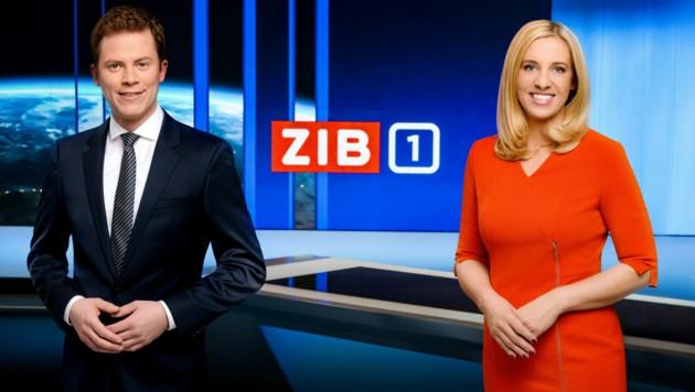 """ZiB 1"": Tobias Pötzelsberger nimmt am 6. Mai erstmals neben Susanne Höggerl Platz (Bild: ORF)"
