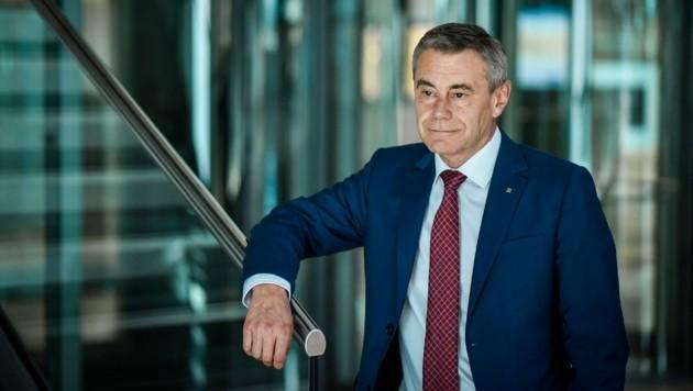 Heinrich Schaller, Generaldirektor der Raiffeisenlandesbank Oberösterreich. (Bild: Markus Wenzel)