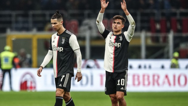 Paulo Dybala (rechts) mit Teamkollege Cristiano Ronaldo (Bild: AFP)