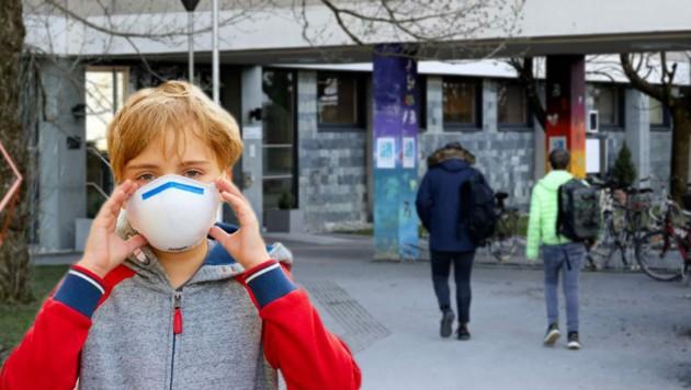 Kinder dürfen nur mit Mundschutz in die Schule kommen (Bild: Starpix/TUMA, Tröster)