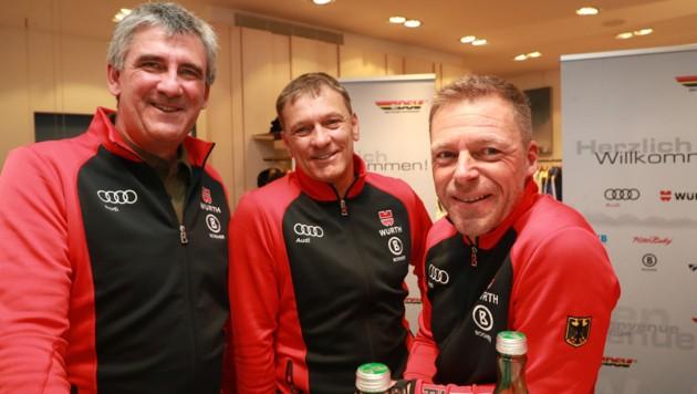 Christian Schwaiger, Wolfgang Maier und Jürgen Graller (von li. nach re.) (Bild: GEPA )