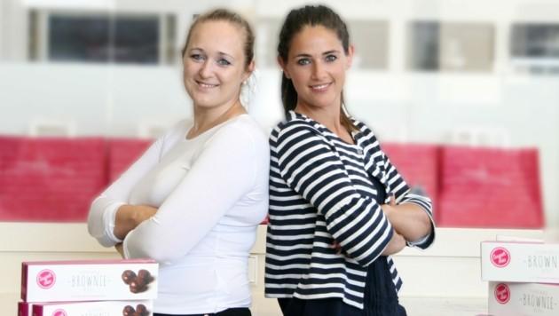 Andrea Heindl (l.) und Barbara Laimer stehen hinter der Marke sweetomio (Bild: sweetomio)